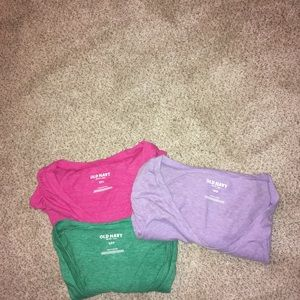 3 women's long sleeved Old Navy shirts